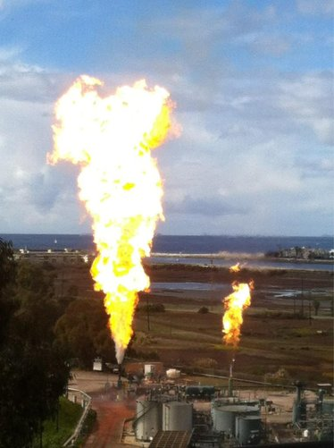 Explosion at the Playa del Rey  Gas Storage Facility  Sunday, January 6, 2013  could be seen from Malibu